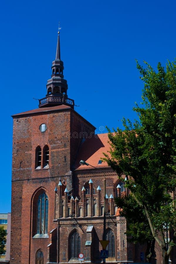 De kerk van Slupsk stock foto