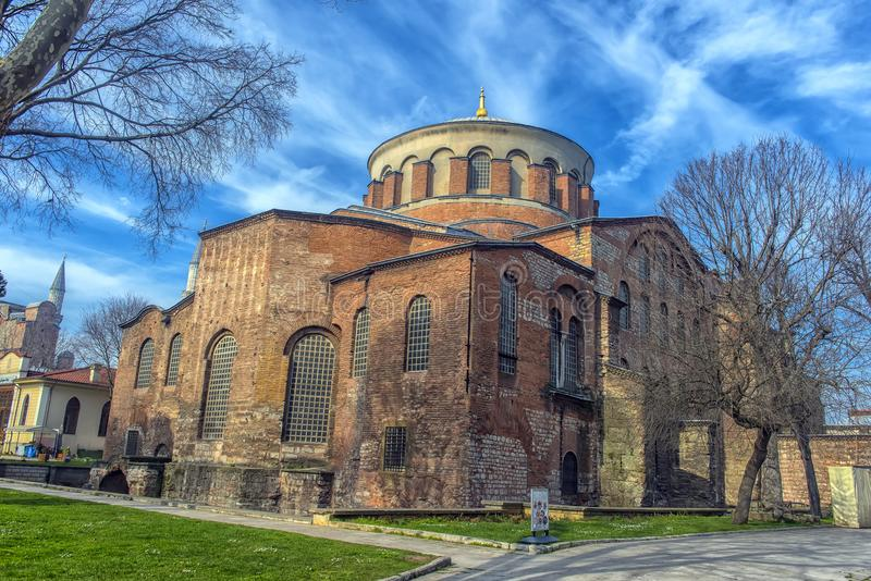 De Kerk van St Irene - één van de vroegste overlevende kerken royalty-vrije stock afbeelding