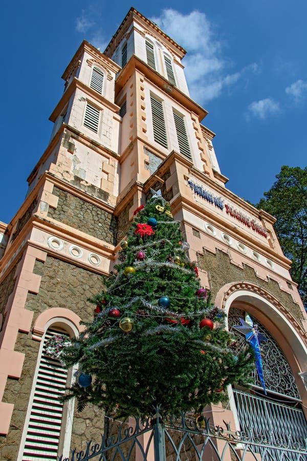 De Kerk van St Joan van Boog bij Ho Chi Minh-stad stock foto