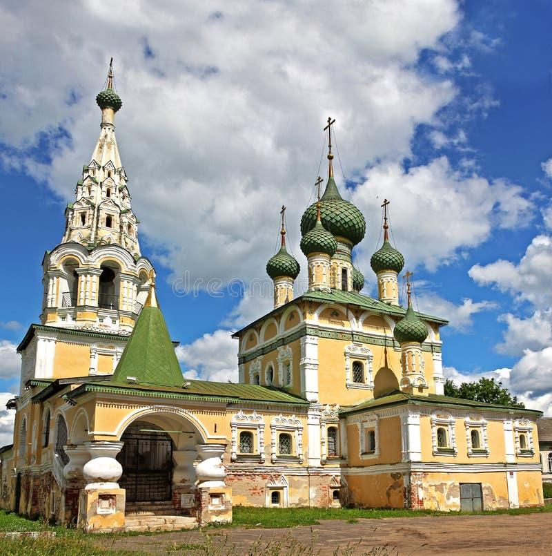 De Kerk van St John The Baptist in Uglich, Rusland royalty-vrije stock foto's