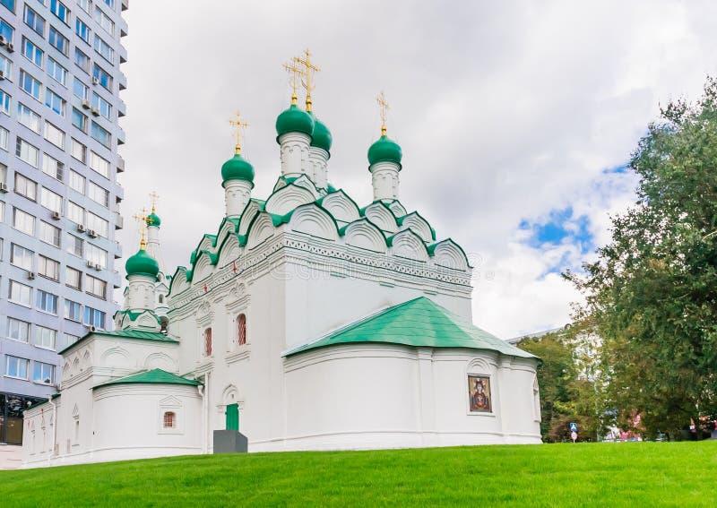 De Kerk van St Simeon op Cook Street moskou royalty-vrije stock afbeeldingen