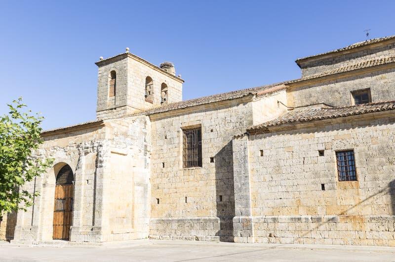 De kerk van STOL van San Pedro Apà ³ in Itero DE La Vega, provincie van Palencia, Spanje stock foto