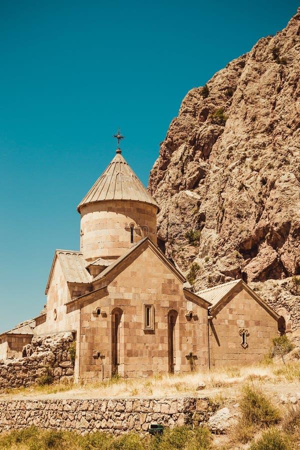 De Kerk van Surbkarapet, Noravank Armeense cultuur Het concept van de architectuur bedevaartplaats De achtergrond van de godsdien royalty-vrije stock afbeeldingen