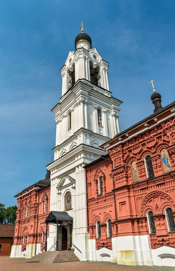 De Kerk van Theotokos van Tikhvin in het Gebied van Noginsk - van Moskou, Rusland stock foto