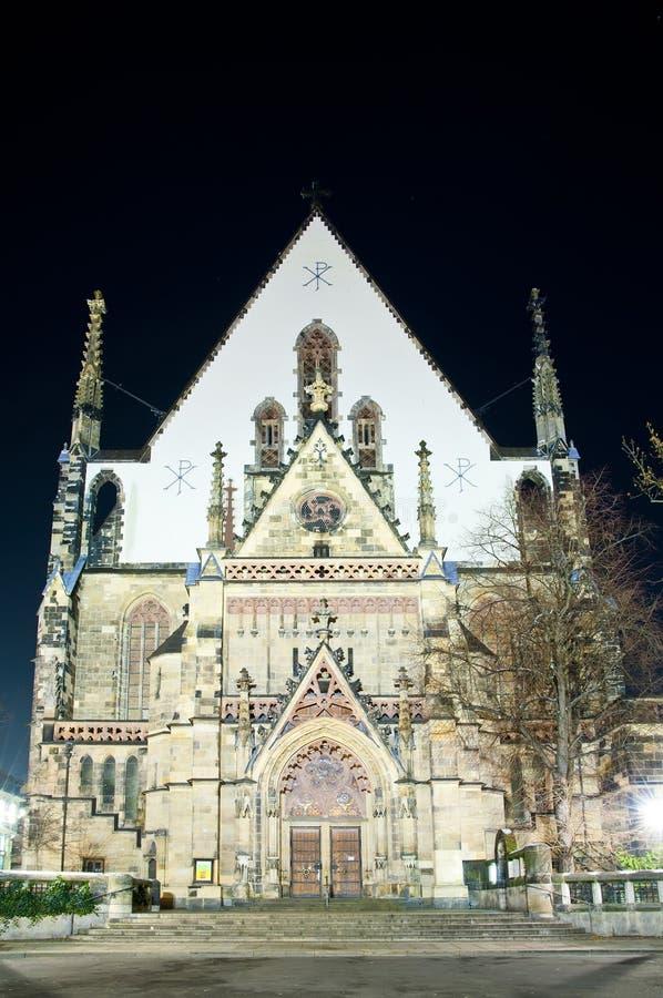 De kerk van Thomas in Leipzig, Duitsland stock foto's