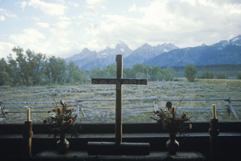 De Kerk van Transformatie in Jackson Wyoming royalty-vrije stock fotografie