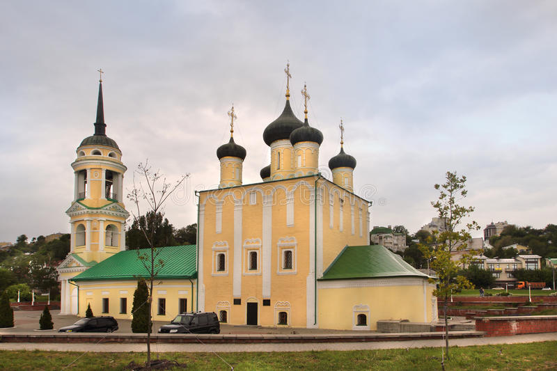 De kerk van Uspenskyadmiraliteit in Voronezh-stad, Rusland royalty-vrije stock afbeeldingen