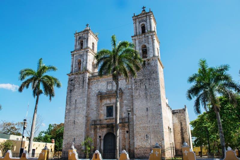 De kerk van Valladolid San Gervasio van Yucatan royalty-vrije stock fotografie