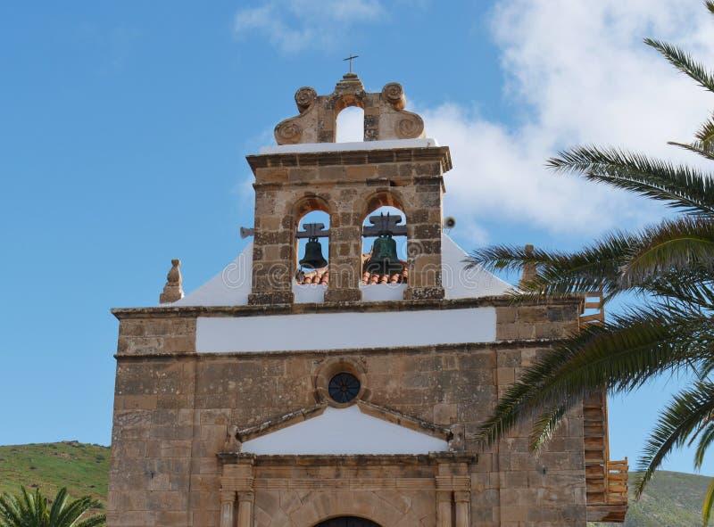 De kerk van Vega DE Rio Palmas op Fuerteventura stock foto's