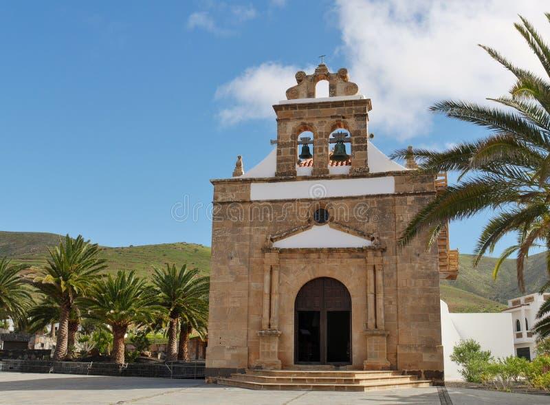 De kerk van Vega DE Rio Palmas op Fuerteventura stock afbeelding