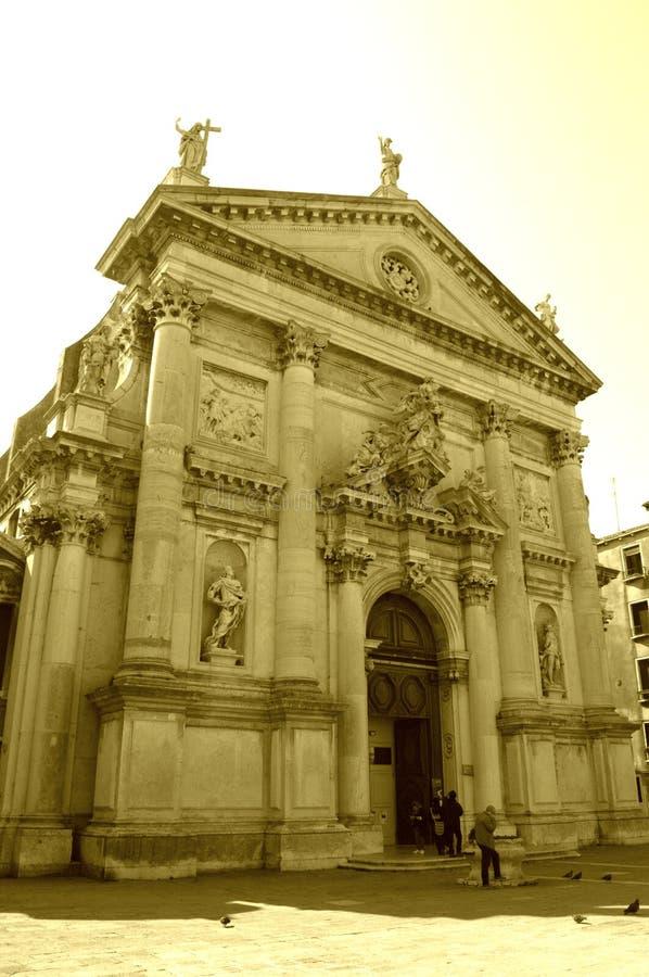 De kerk van Venetië, Italië stock afbeeldingen