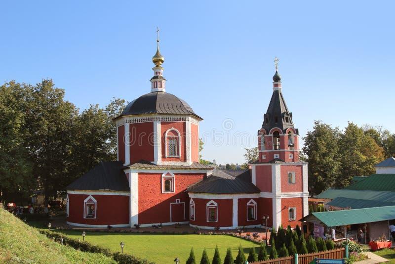 De kerk van de Veronderstelling van Heilige Maagdelijke Mary in Suzdal, Rusland stock foto's