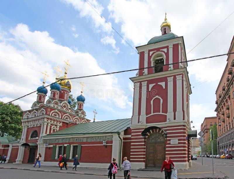 De Kerk van Veronderstelling van de Vergine Santa in Taganka, Moskou royalty-vrije stock fotografie