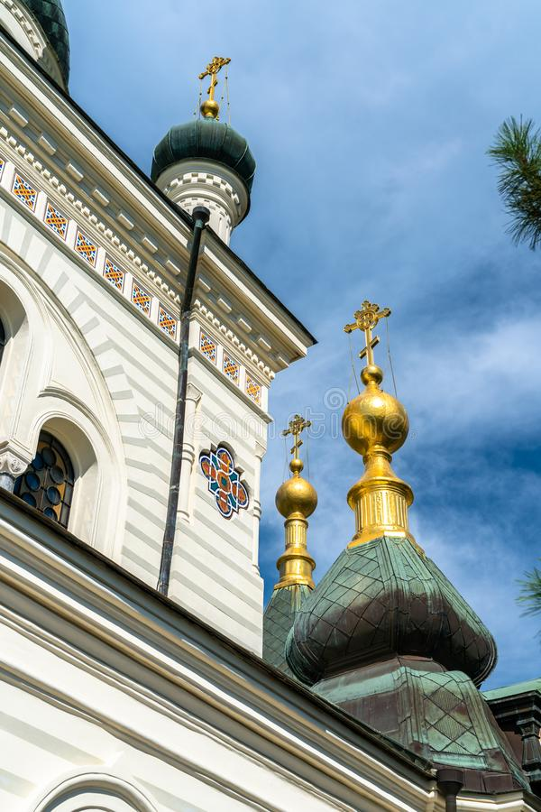 De Kerk van Verrijzenis in Foros, de Krim royalty-vrije stock afbeelding