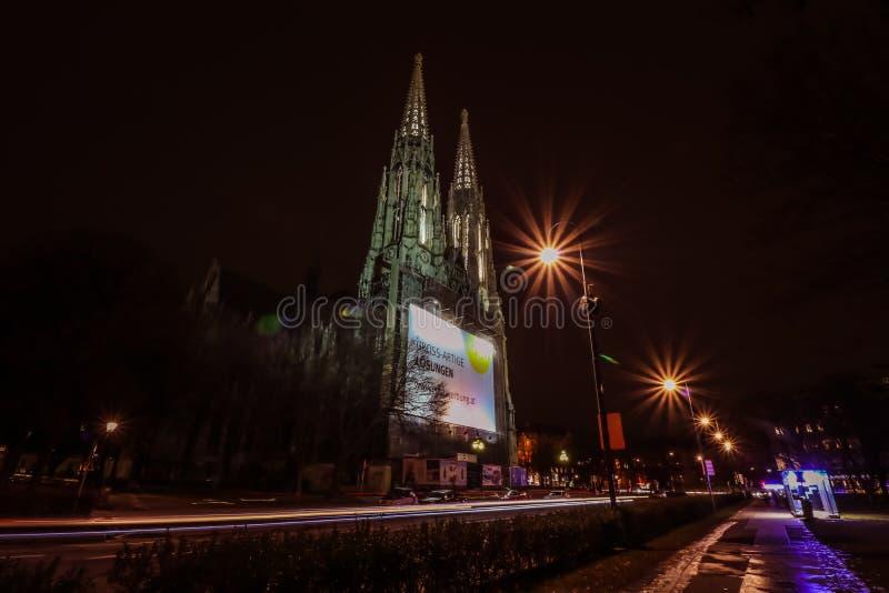 De Kerk Wenen van Votiv stock afbeelding
