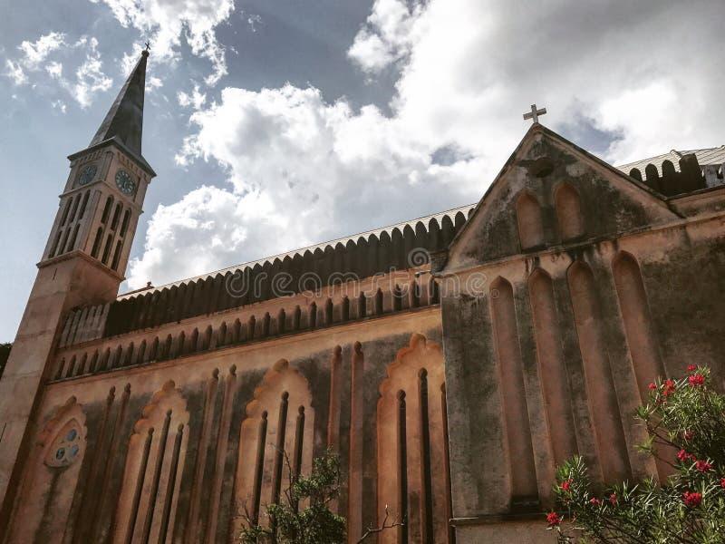 De Kerk Zanzibar van Christus stock afbeelding