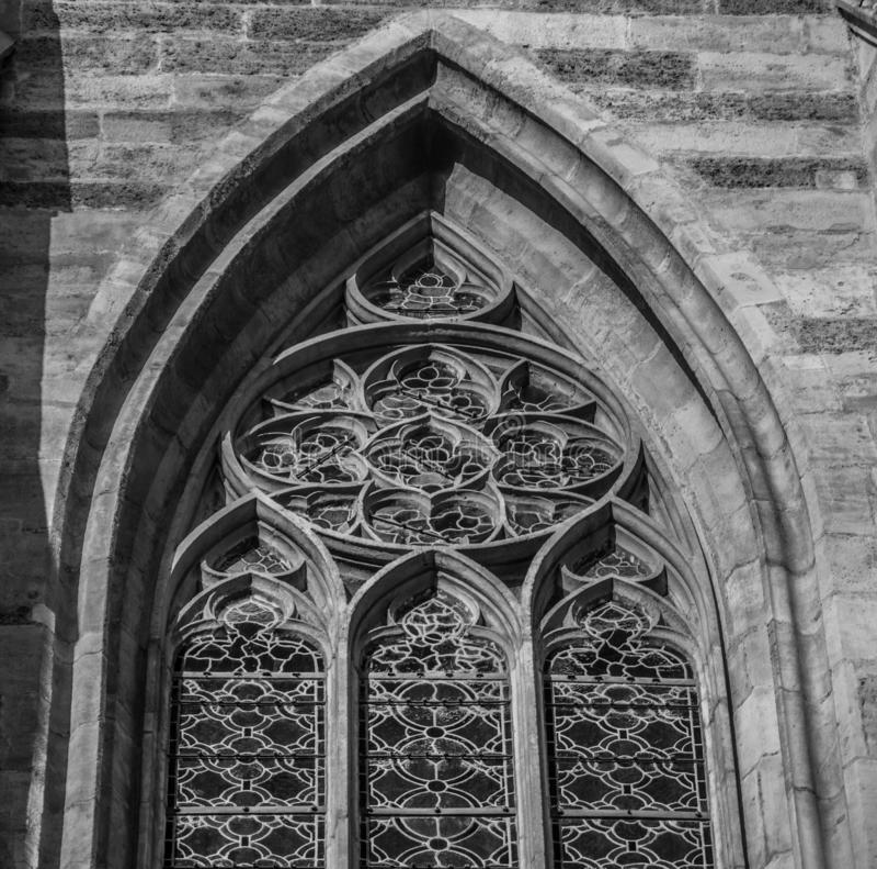 De kerkboog van Wiendetails stock afbeeldingen