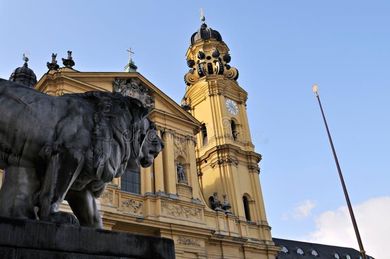 De Kerken van München - St. Kajetan stock fotografie