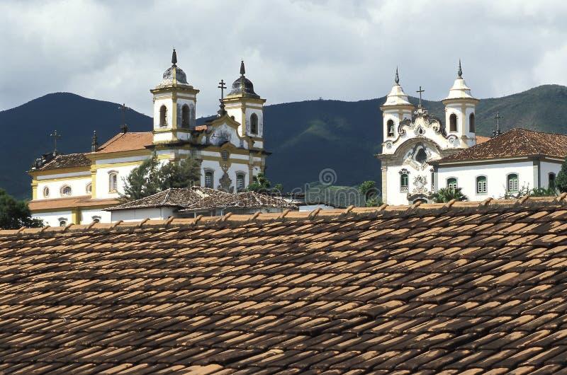 De kerken van São Francisco en Nossa Senhora do Carmo in Mar stock afbeeldingen