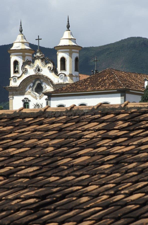 De kerken van São Francisco en Nossa Senhora do Carmo in Mar royalty-vrije stock foto's