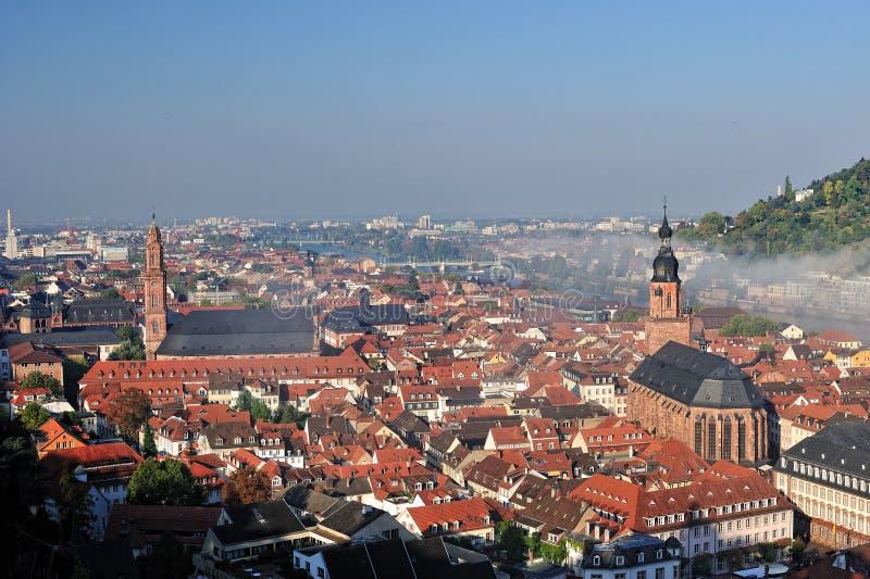 De kerkenarchitectuur van Heidelberg stock foto's