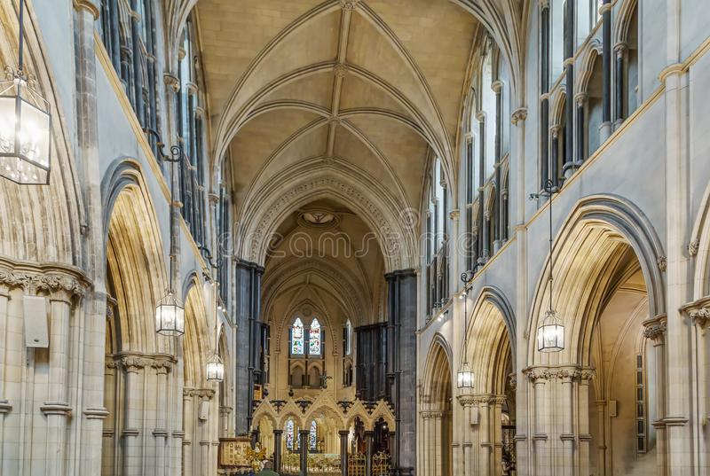De Kerkkathedraal van Christus, Dublin, Ierland stock foto
