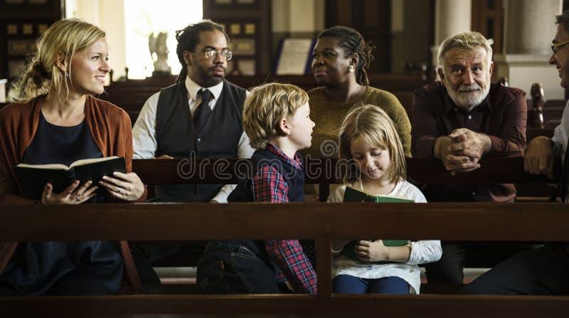 De kerkmensen geloven Godsdienstig Geloof stock foto