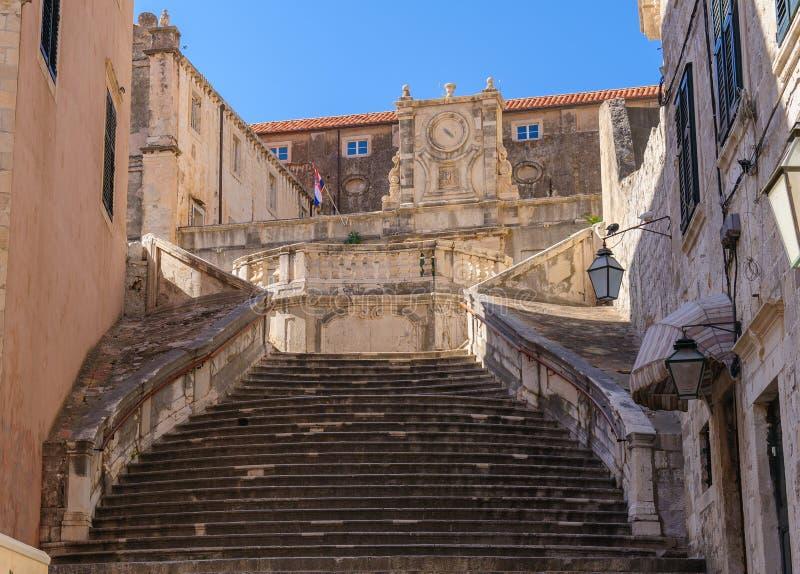 De Kerktrap van de Dubrovnikjezuïet royalty-vrije stock afbeeldingen