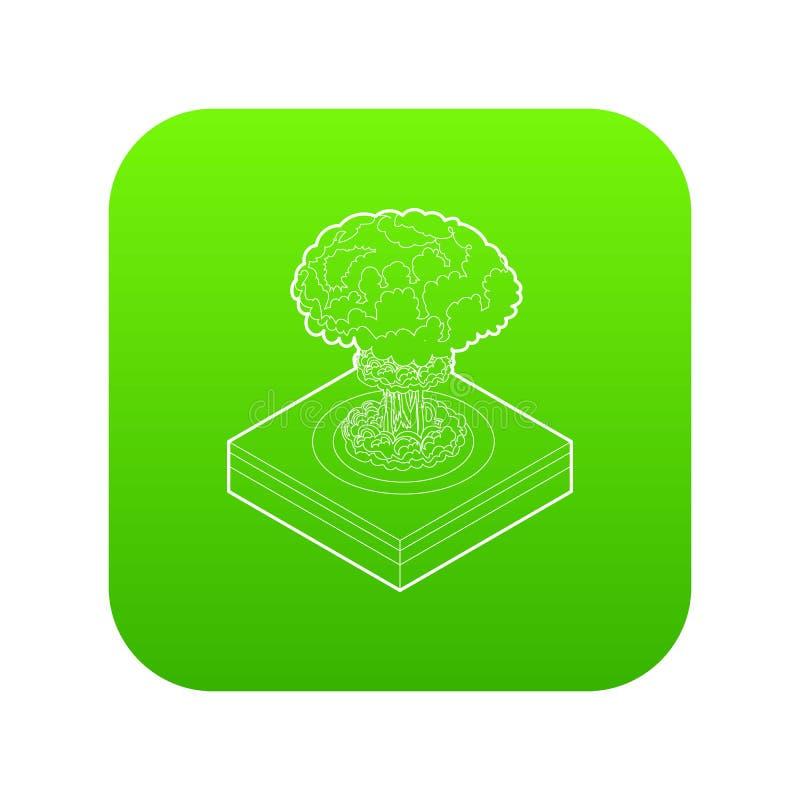 De kern groene vector van het explosiepictogram royalty-vrije illustratie