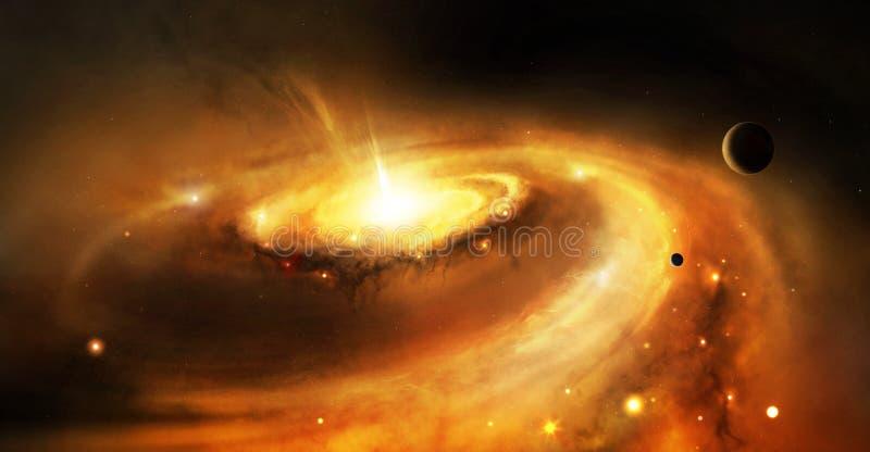 De kern van de melkweg in ruimte stock illustratie