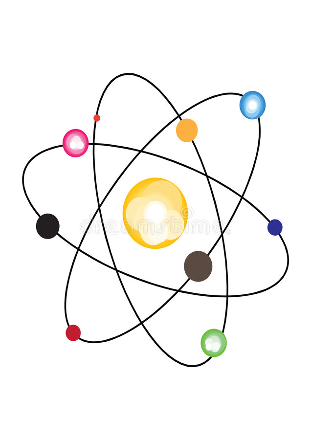 De kern van het atoom vector illustratie