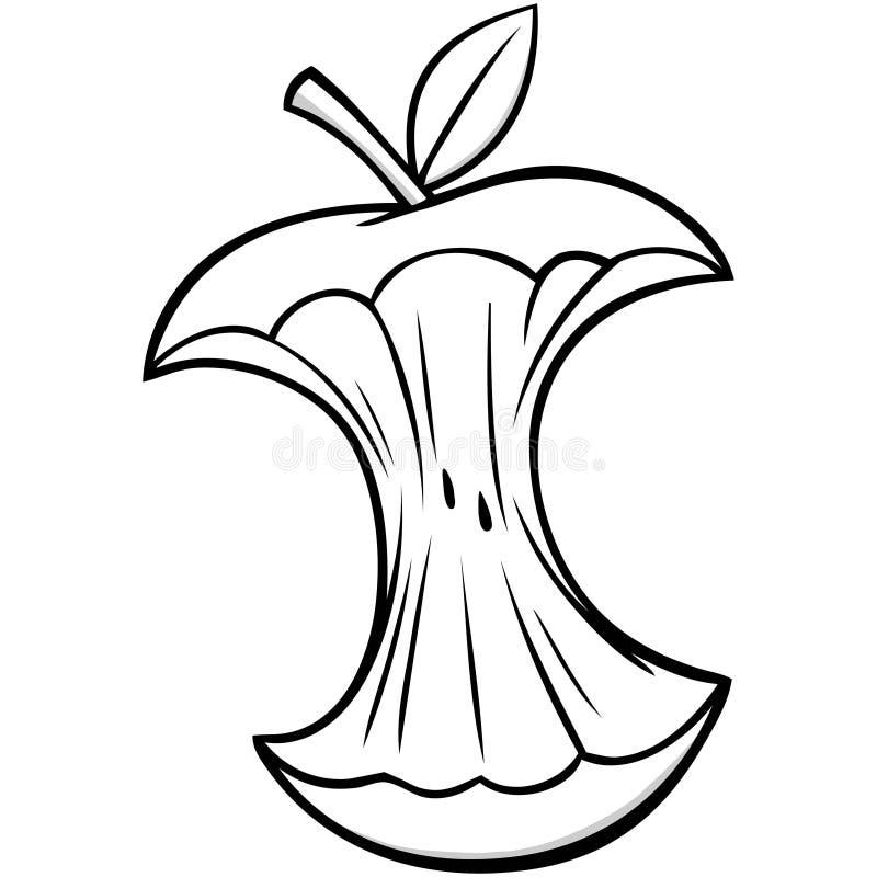 De Kernillustratie van beeldverhaalapple vector illustratie
