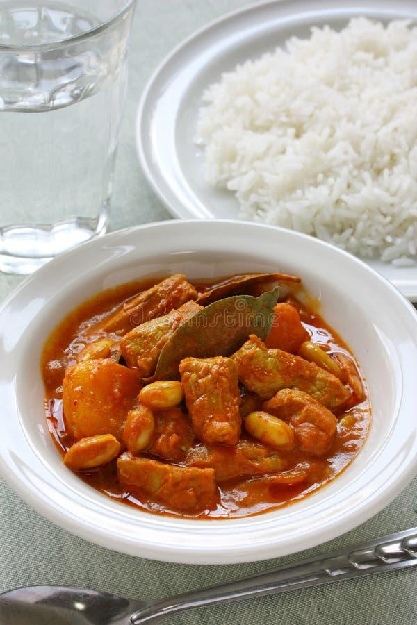 De kerrie van Massaman, Thais voedsel stock afbeelding