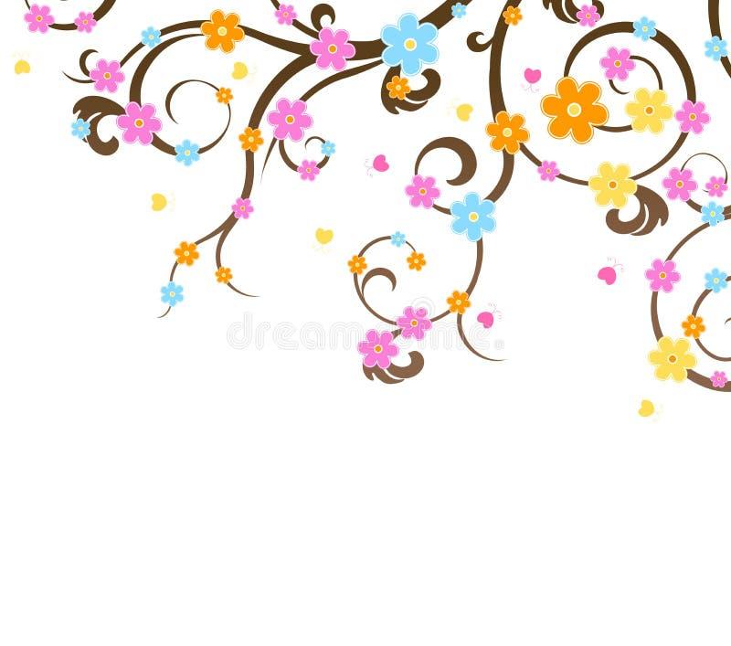 De kersenboom van de bloesem royalty-vrije illustratie