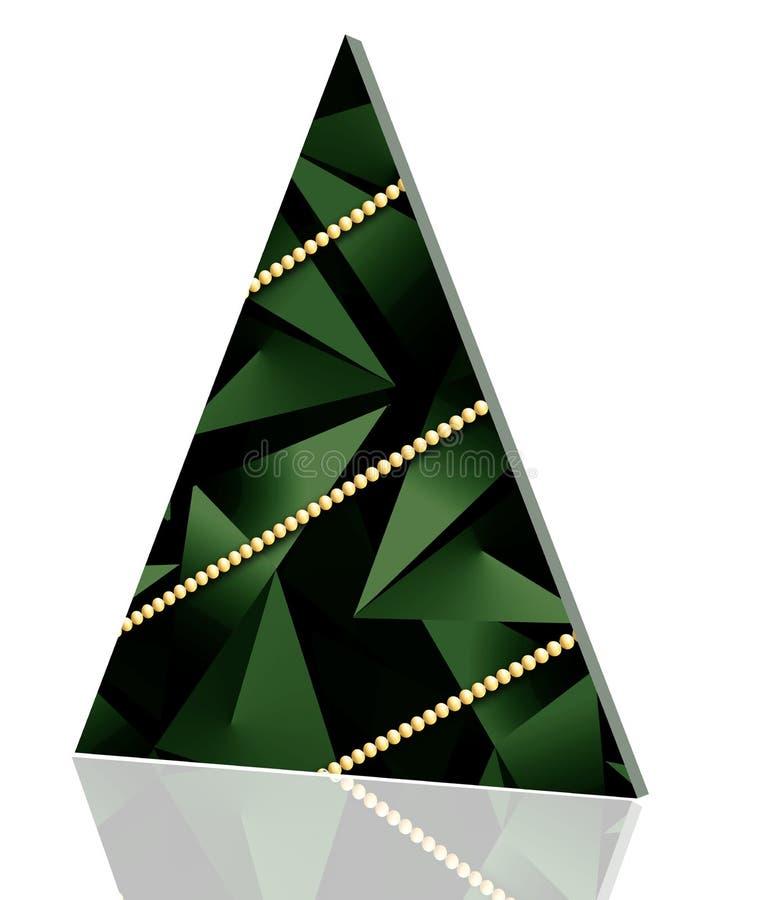 De kerstbomen, worden eenvoudige grafische versies hier gezien vector illustratie