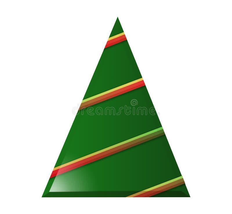 De kerstbomen, worden eenvoudige grafische versies hier gezien stock illustratie