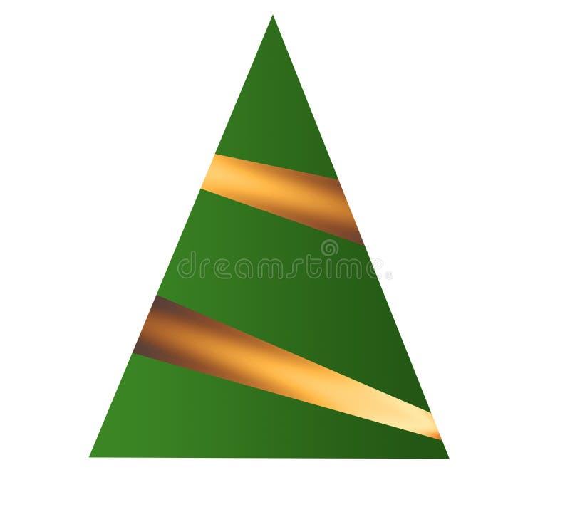 De kerstbomen, worden eenvoudige grafische versies hier gezien royalty-vrije illustratie