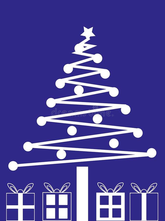 De kerstboom en stelt voor royalty-vrije illustratie
