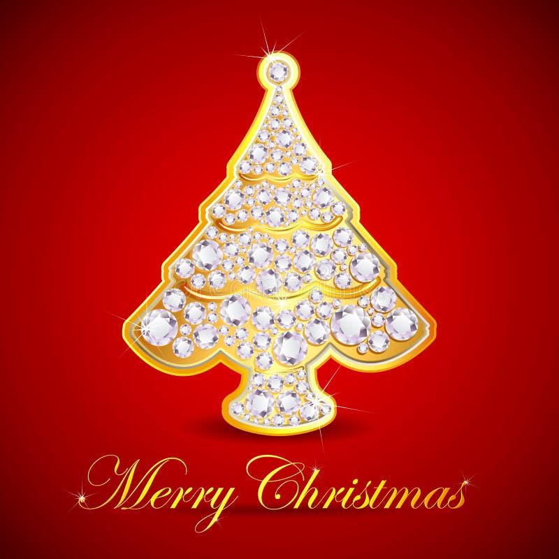 De Kerstboom van de diamant vector illustratie