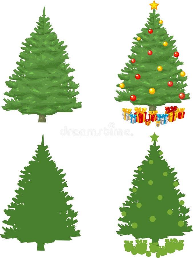De Kerstboom van de pijnboom royalty-vrije illustratie
