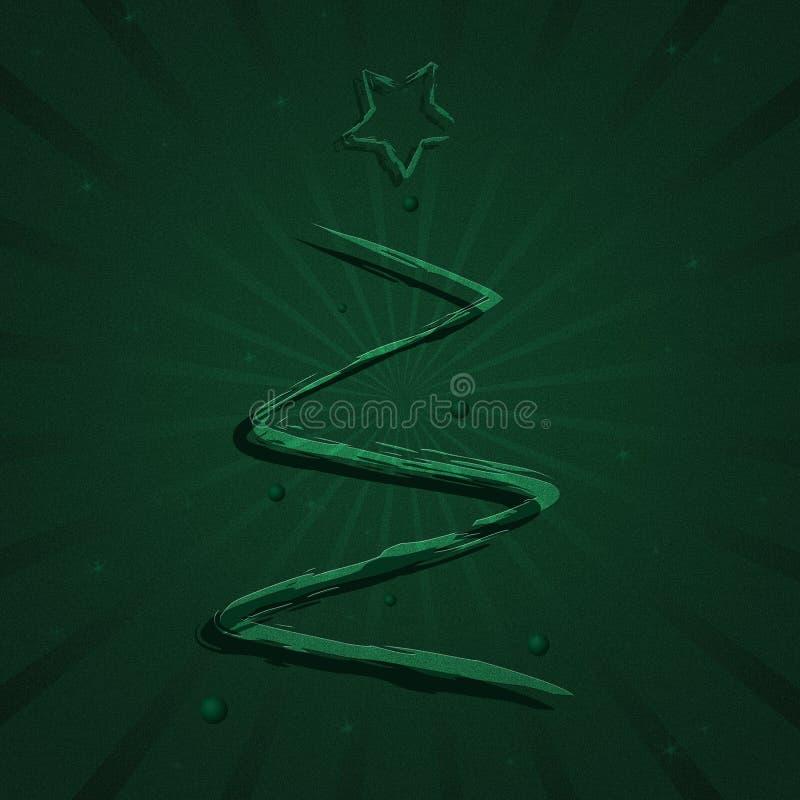 De Kerstboom van de verf stock illustratie