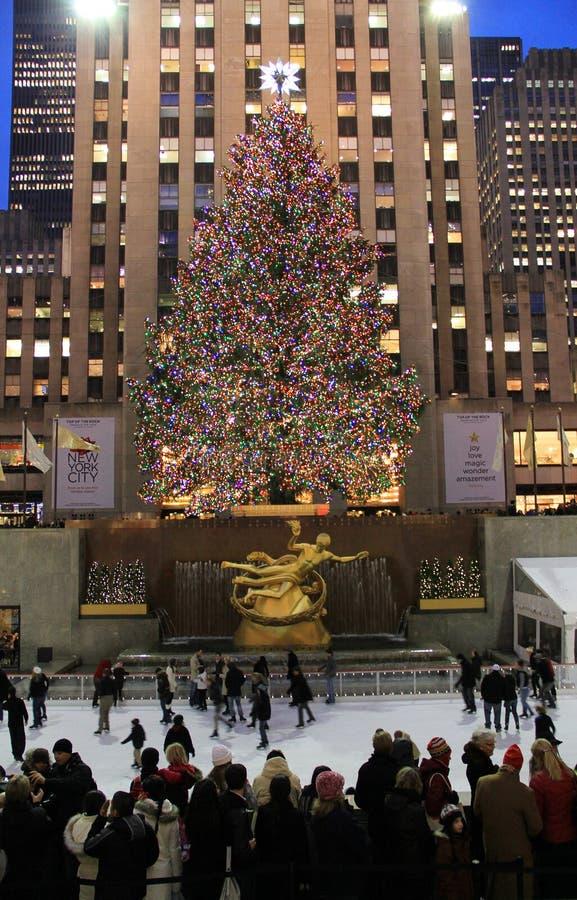 De Kerstboom van het Centrum van Rockefeller, NYC royalty-vrije stock fotografie
