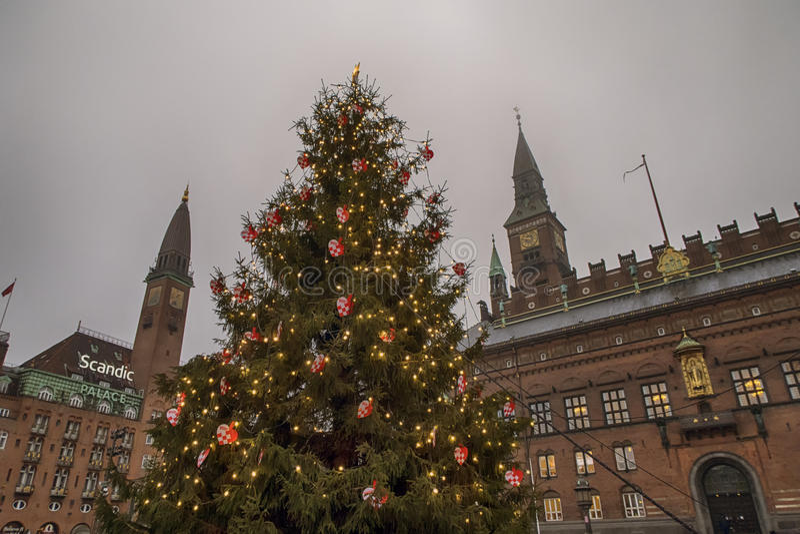 De Kerstboom van Kopenhagen stock afbeeldingen