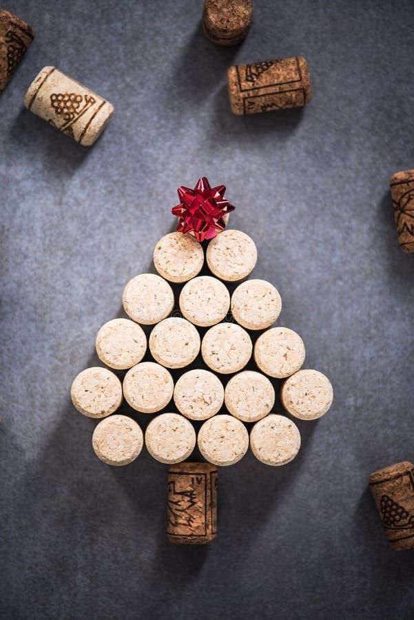 De kerstboom van wijn kurkt royalty-vrije stock afbeeldingen