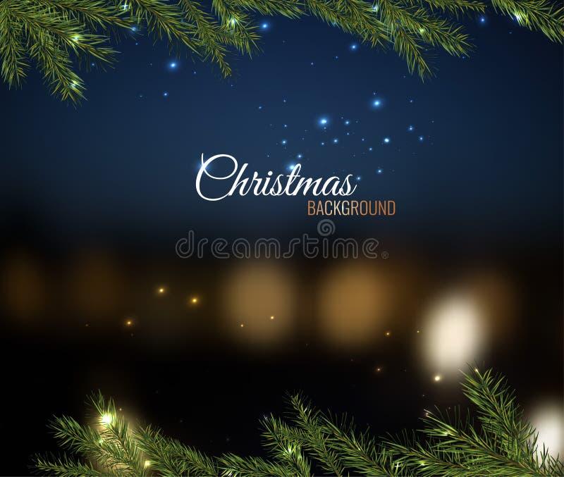 De kerstboom vertakt zich 02 A royalty-vrije illustratie