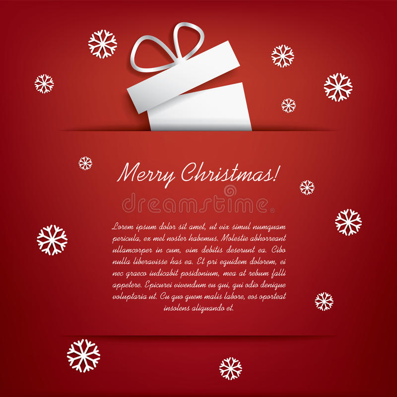 De kerstkaart met Kerstmis stelt voor vector illustratie