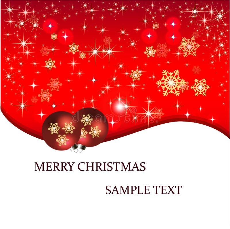 De Kerstkaart van de bannerillustratie royalty-vrije illustratie