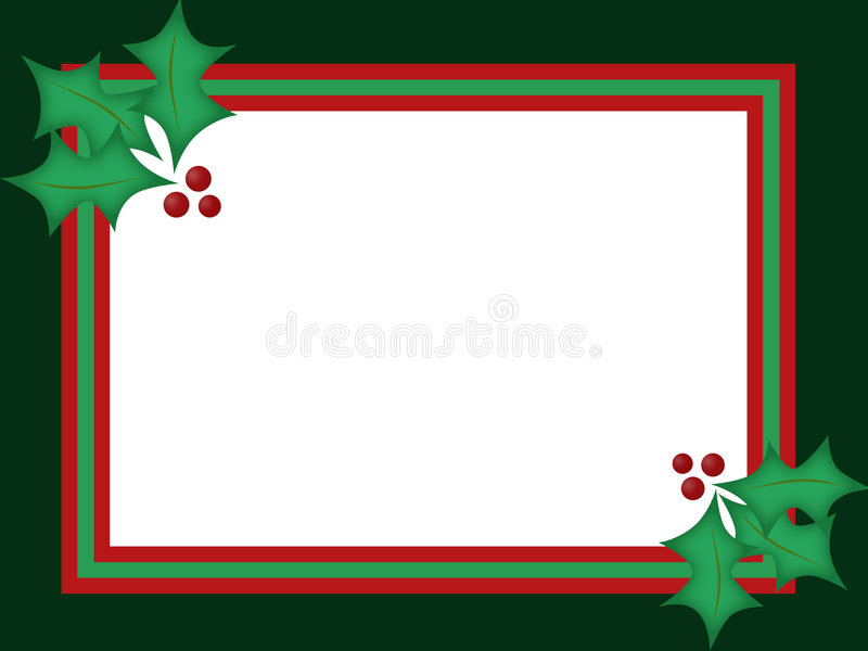 De Kerstkaart van de hulst stock illustratie