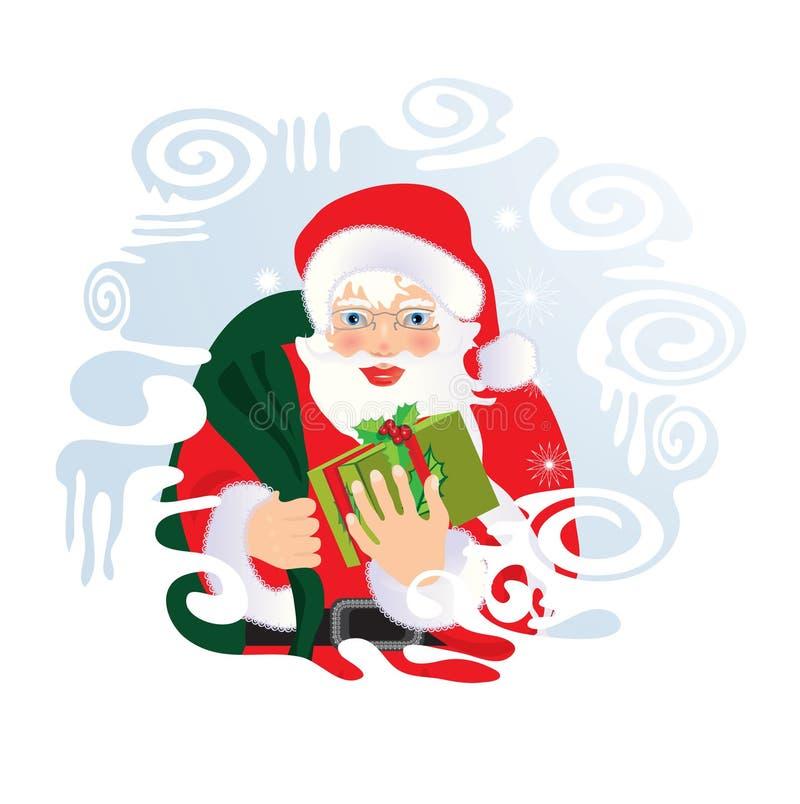 De Kerstman. royalty-vrije illustratie