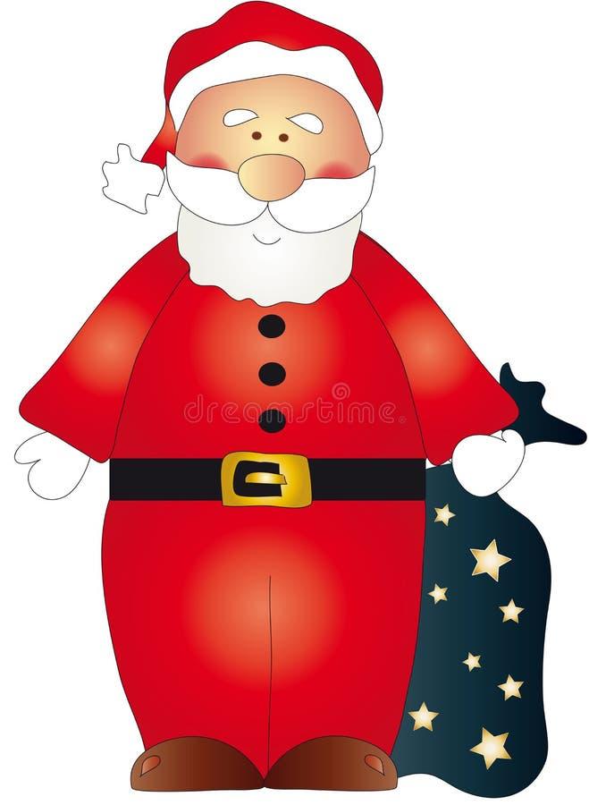De Kerstman royalty-vrije illustratie